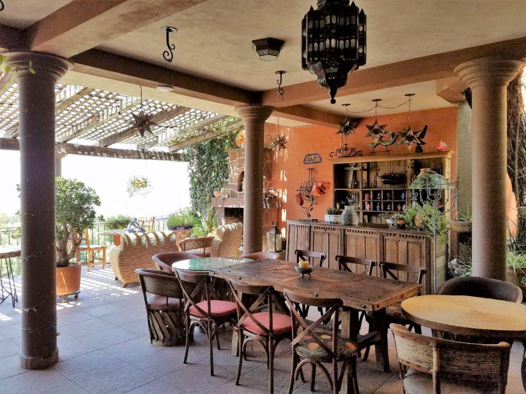 Outdoor terrace at Casa Angelitos