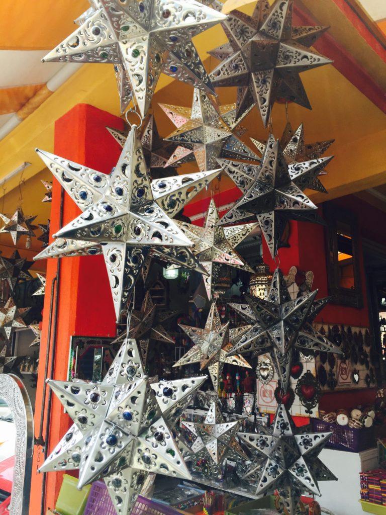 Tin Stars at the Mercado de Artesanias La Ciudadela, Mexico CIty