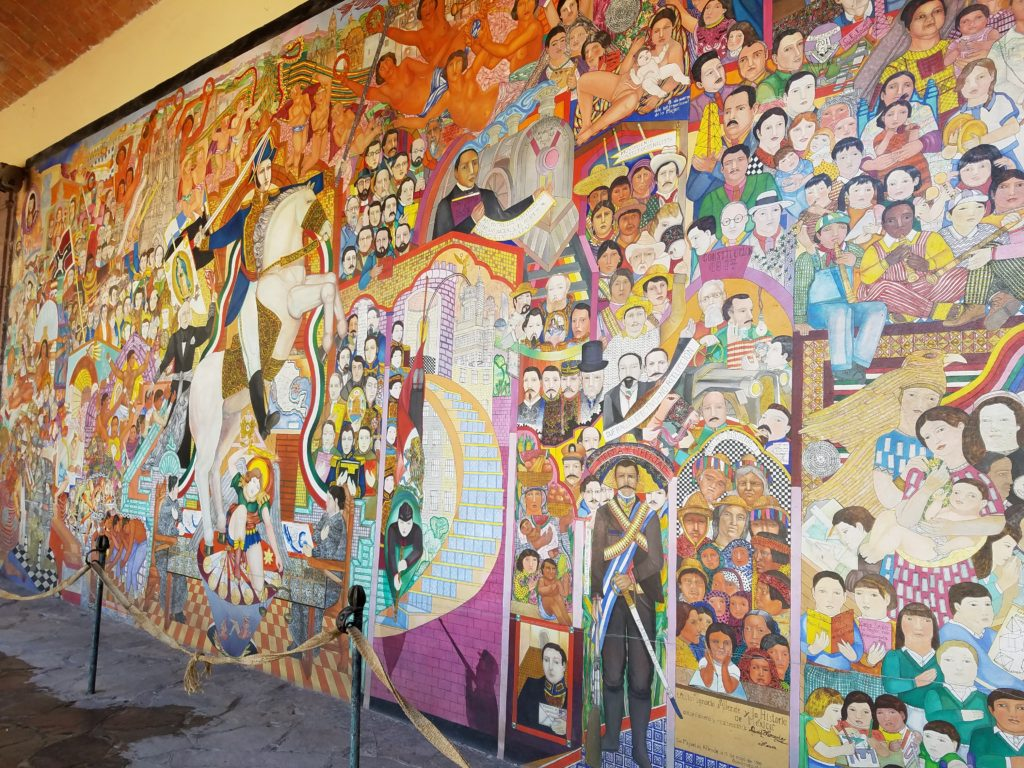 Mural in Instituto Allende Courtyard in San Miguel de Allende, Mexico