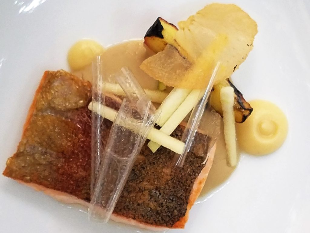 Trout with Apples at Aperi in San Miguel de Allende