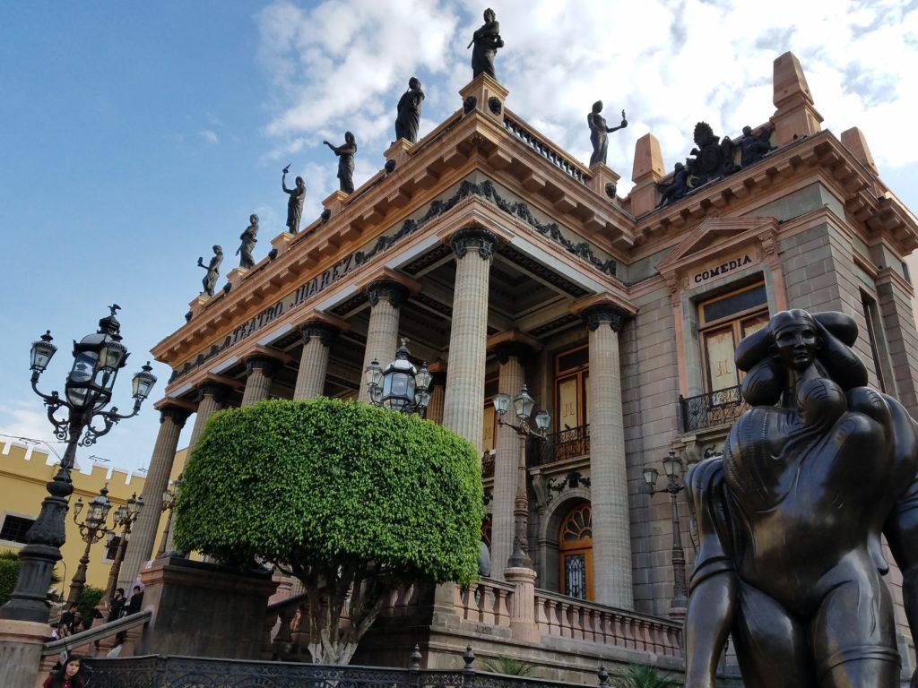 Juarez Teatro in Guanajuato in Colonial Mexico