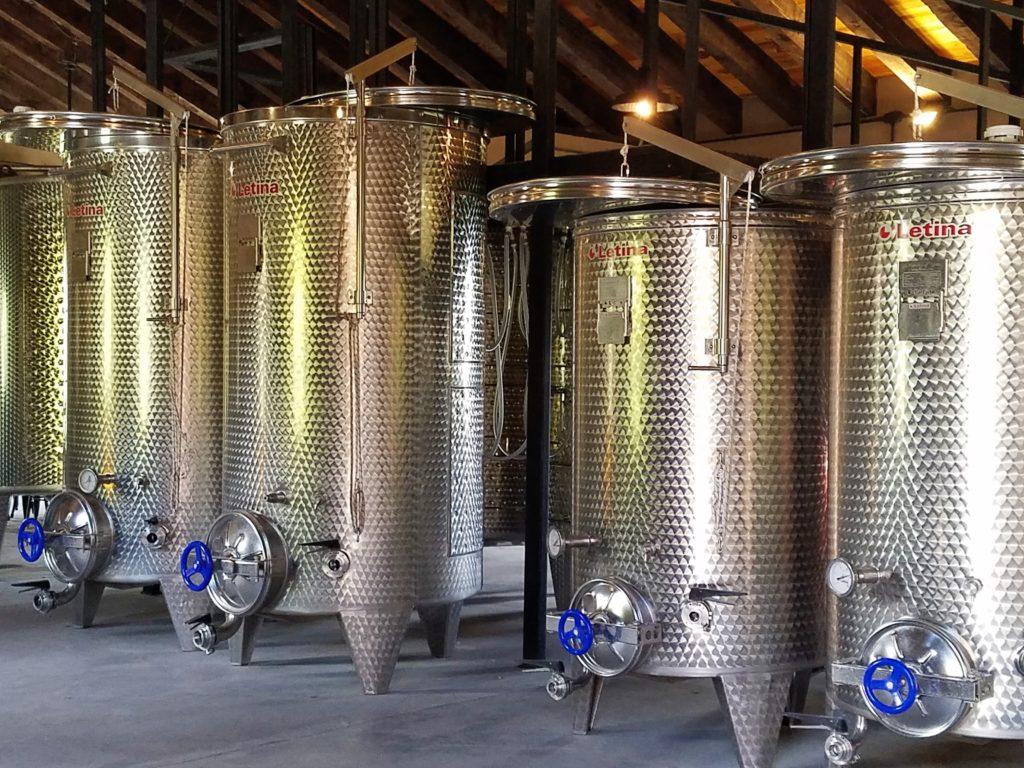 Stainless Steel Tanks at La Santisma Trinidad Winery, Mexico