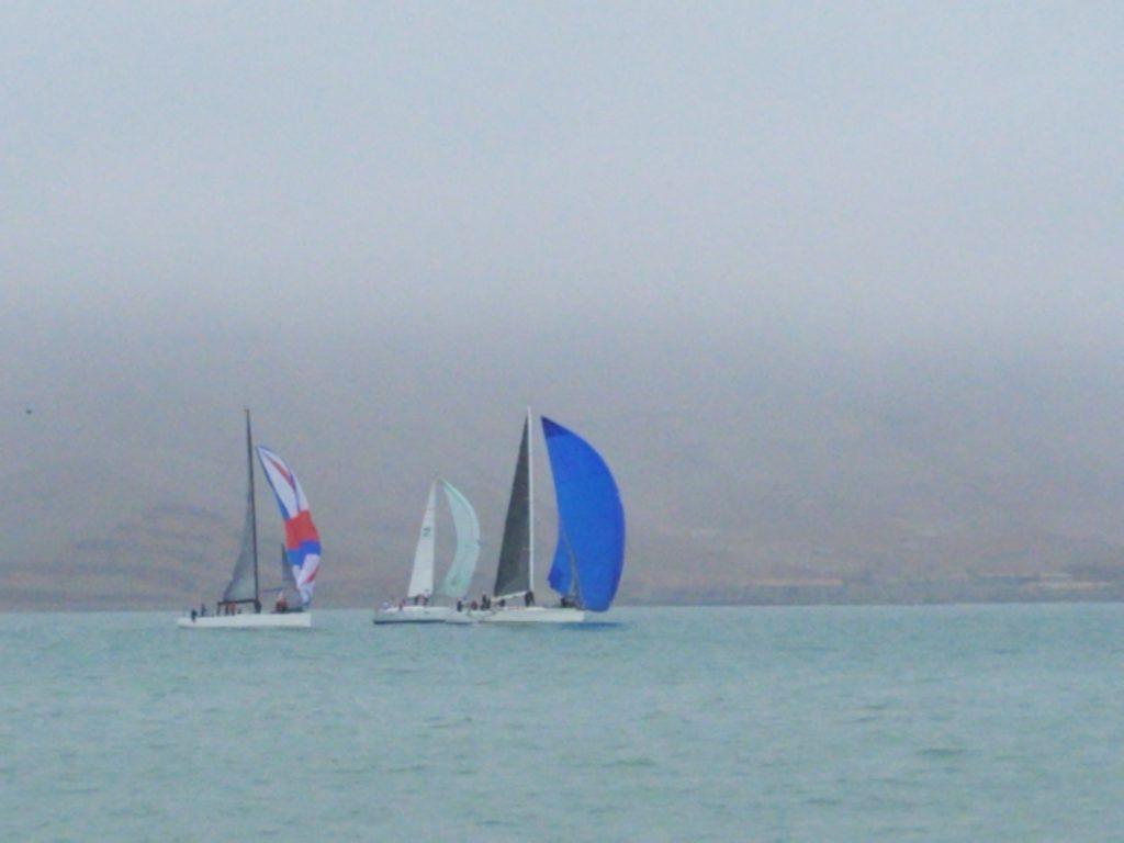 Sailboat regatta off Callao, Peru