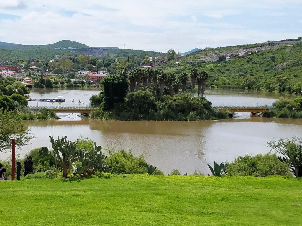 View of the lake at Parque Bicentenario, Santa Rosa Jauregui