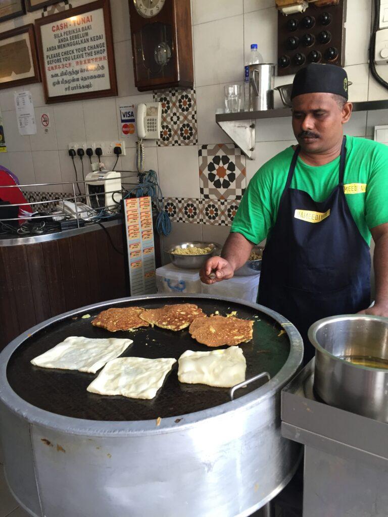 Cooking Murtabak in Penang
