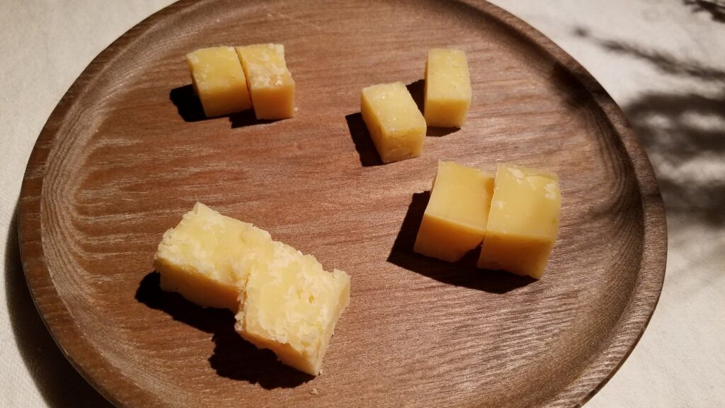 Tolminc cheese selection at Hisa Franko