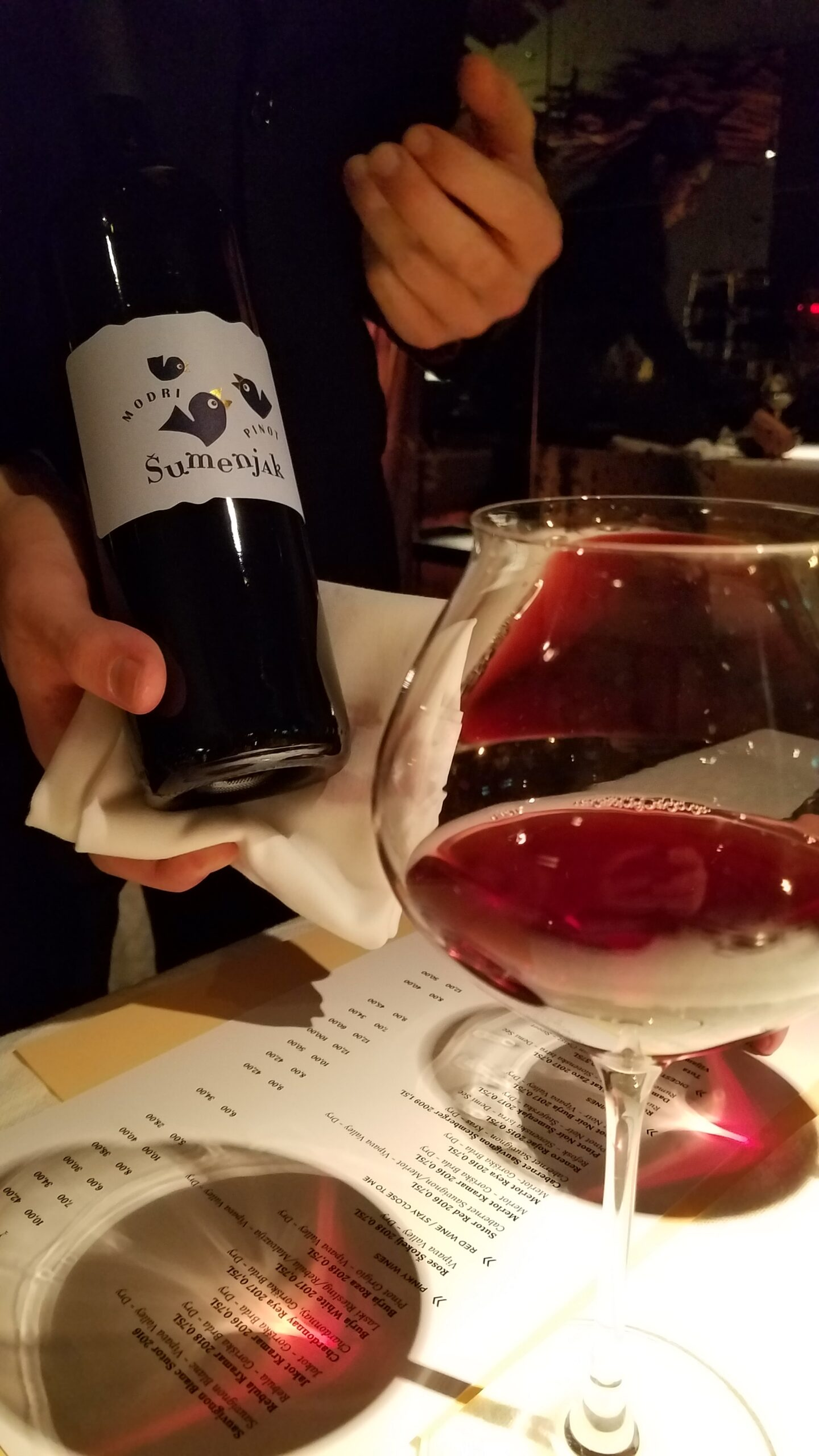 Pinot Noir Sumenjak 2017 from the Stajerska region
