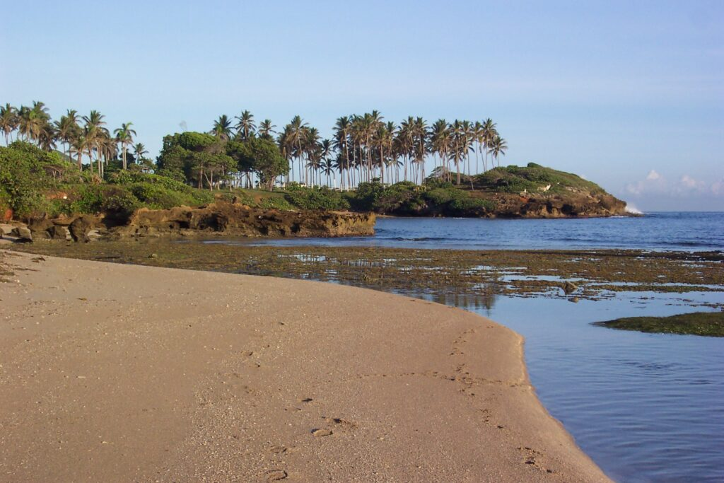 Deserted beach in the Dominican Republic