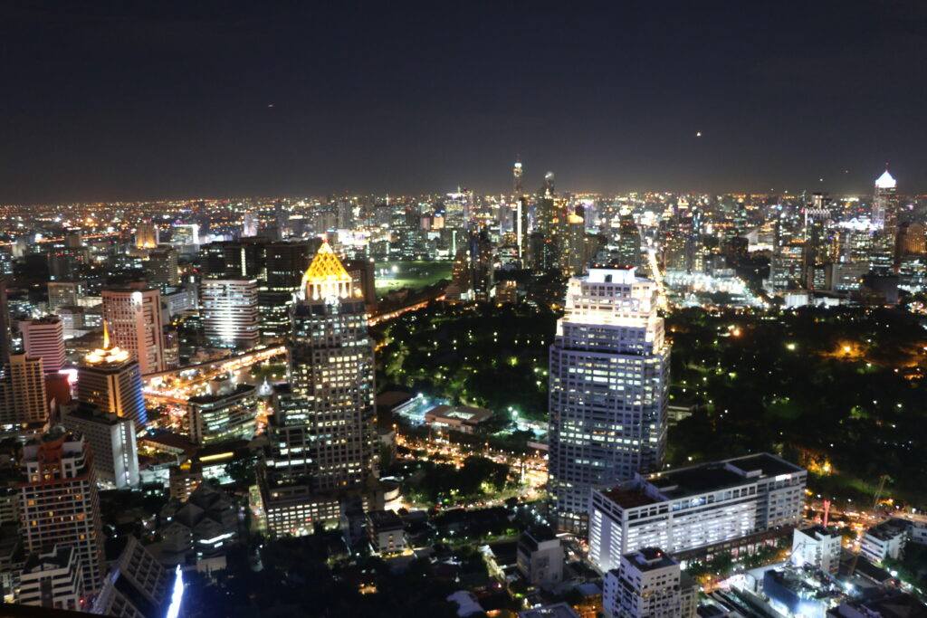 Big city skyscrapers in Bangkok
