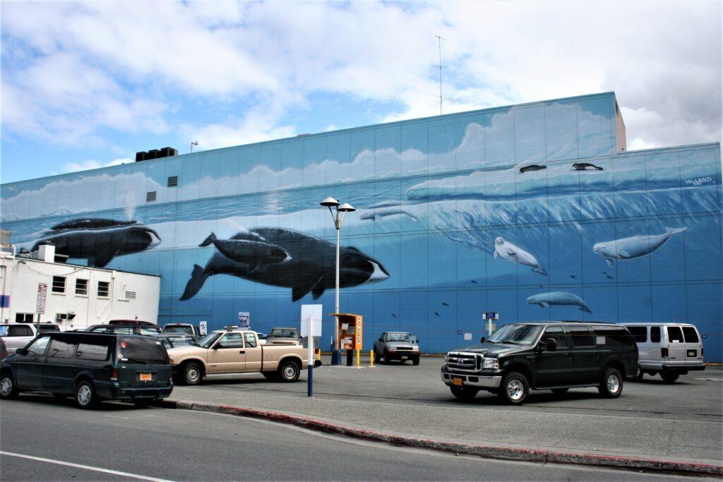 Wyland Alaska Whaling Wall, Anchorage, Alaska