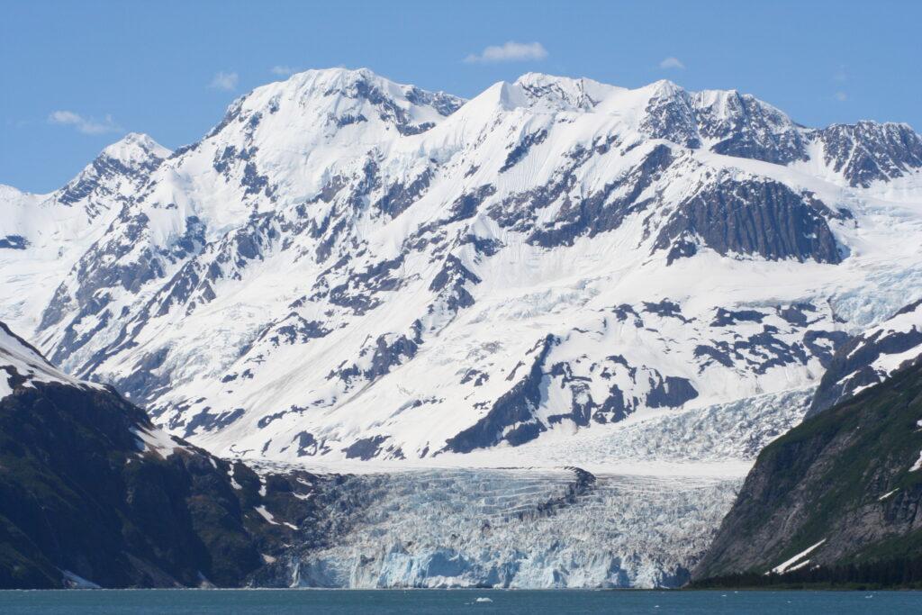 Glacier on the coast of Alaska
