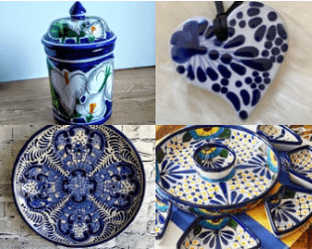 Talavera plates and serving pieces on Etsy