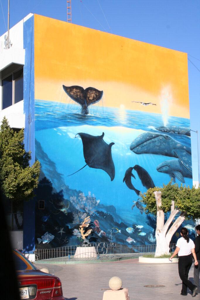 Whale Wall by Wyland in La Paz, California