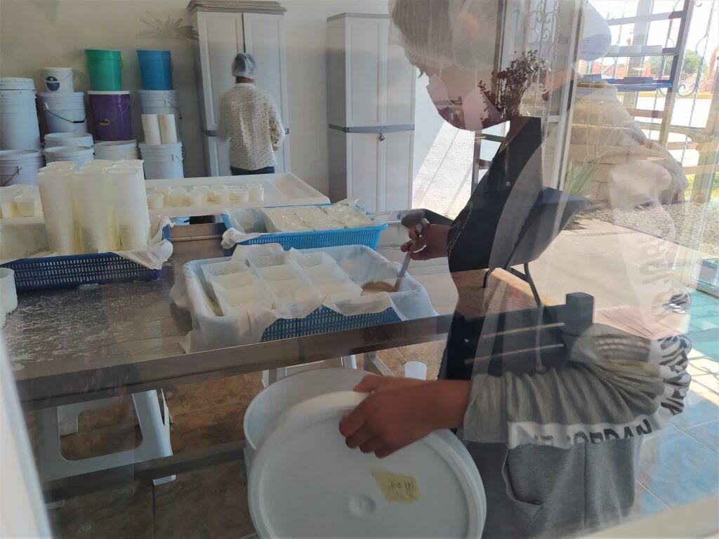 Making cheese at La Biquette