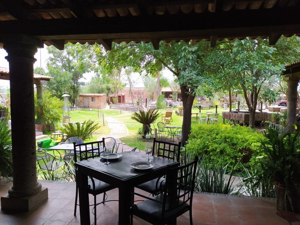 Restaurant terrace at Finca VAI